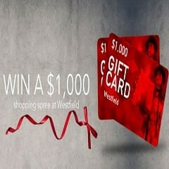 Win a $1000 Westfield Gift Card