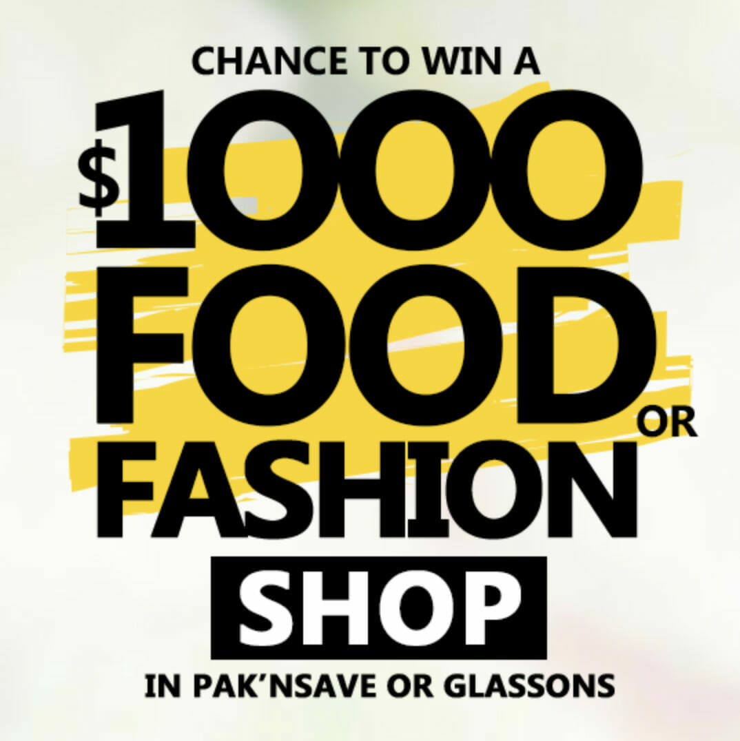 Competition image to Pak n Save or Glassons Vouchers
